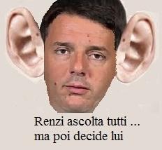 Renzi ascolta