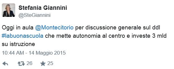 Stefania Giannini - Twitter